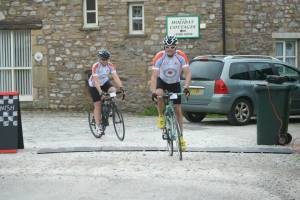 Setting off from the Village Hall in Clapham