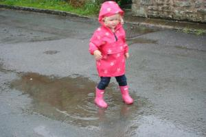 Loves puddles