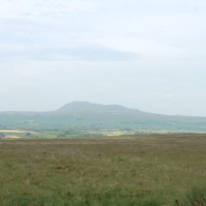 View of Yorkshire peaks