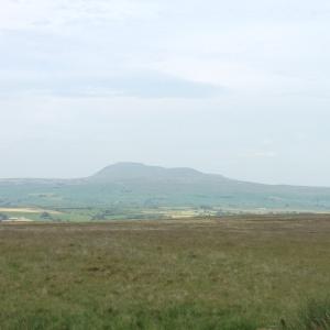 View of Yorkshire peaks