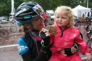 Celebrating Mummy's success Prudential Ride 100 2014