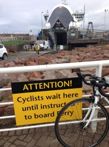 Waiting to board the ferry to the Isle of Arran