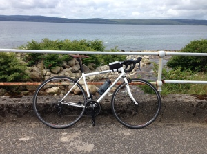 My trusty hire bike from Billy Bilsland cycles in Glasgow http://www.billybilslandcycles.co.uk got me around Arran safe and sound