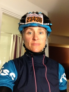 With a 04:00 alarm call I didn't get much sleep, can you tell? Prudential Ride 100 2014