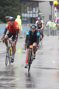 Prudential Ride 100 2014 in the crazy weather