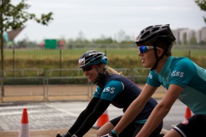At the start - Prudential Ride 100 2014 - meeting up with another Bliss rider