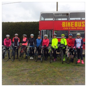 Another 2 ladies joined our ride at the Bike Bus so 8 became 10 for the ride home