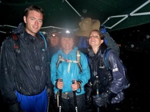 We took a hammering from the wind and rain on Scafell Pike