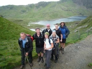 Team 13 making our way up Snowdon