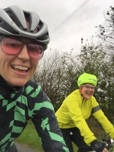 We forced ourselves out in 40mph wind and rain, it was a memorable and enjoyable ride